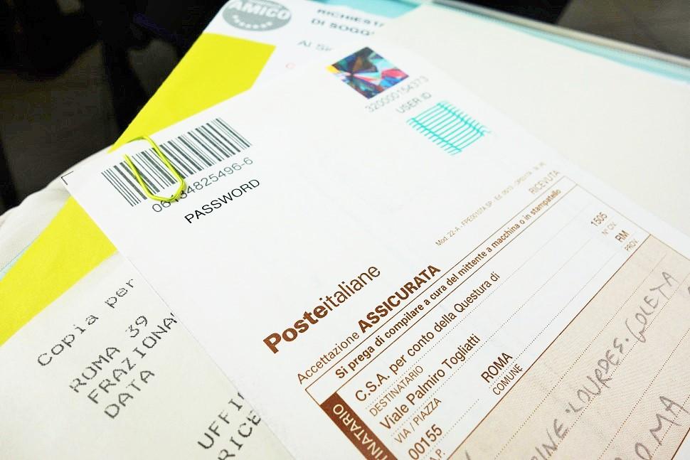 Ricevuta Poste Italiane